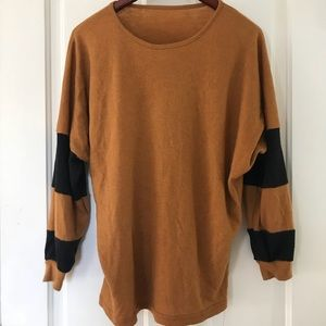 Oversized thrift store colorblock sweater